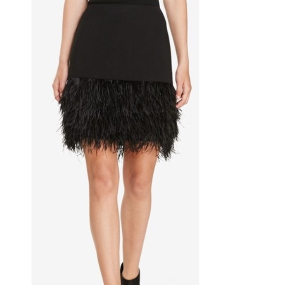 c4be218ed3 Ralph Lauren Black Feather and Ponte skirt NWT